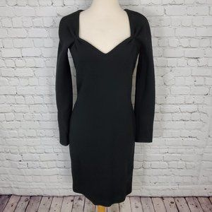 Istante Gianni Versace Wool Dress Black 2 38 NWT